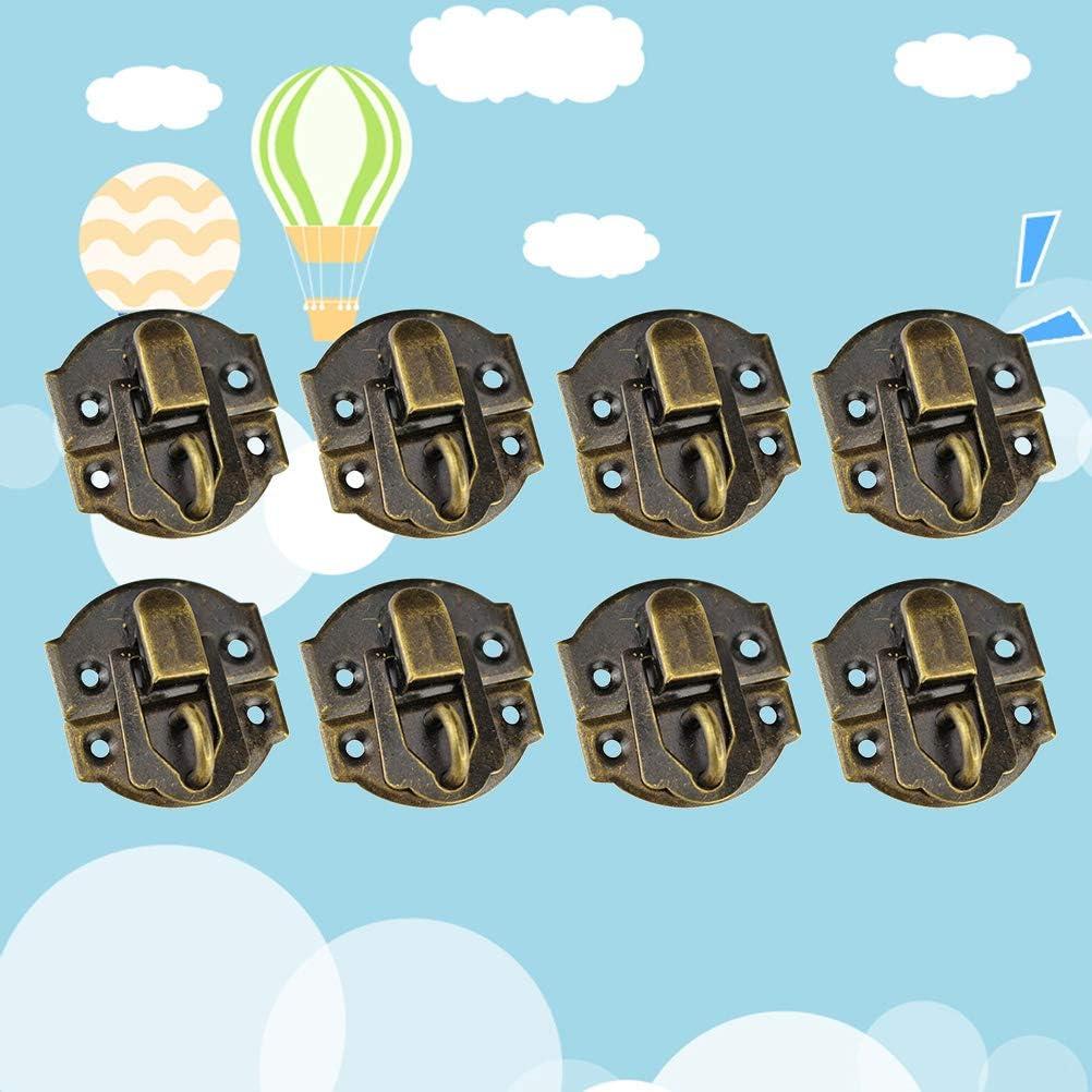 VOSAREA 10 st/ücke Antike Legierung Hasps Clip Verschluss Pr/äge Dekorative Lock Catch Holzkiste Riegel f/ür Schmuck Fall Schmuckschatulle Koffer Gr/ö/ße M