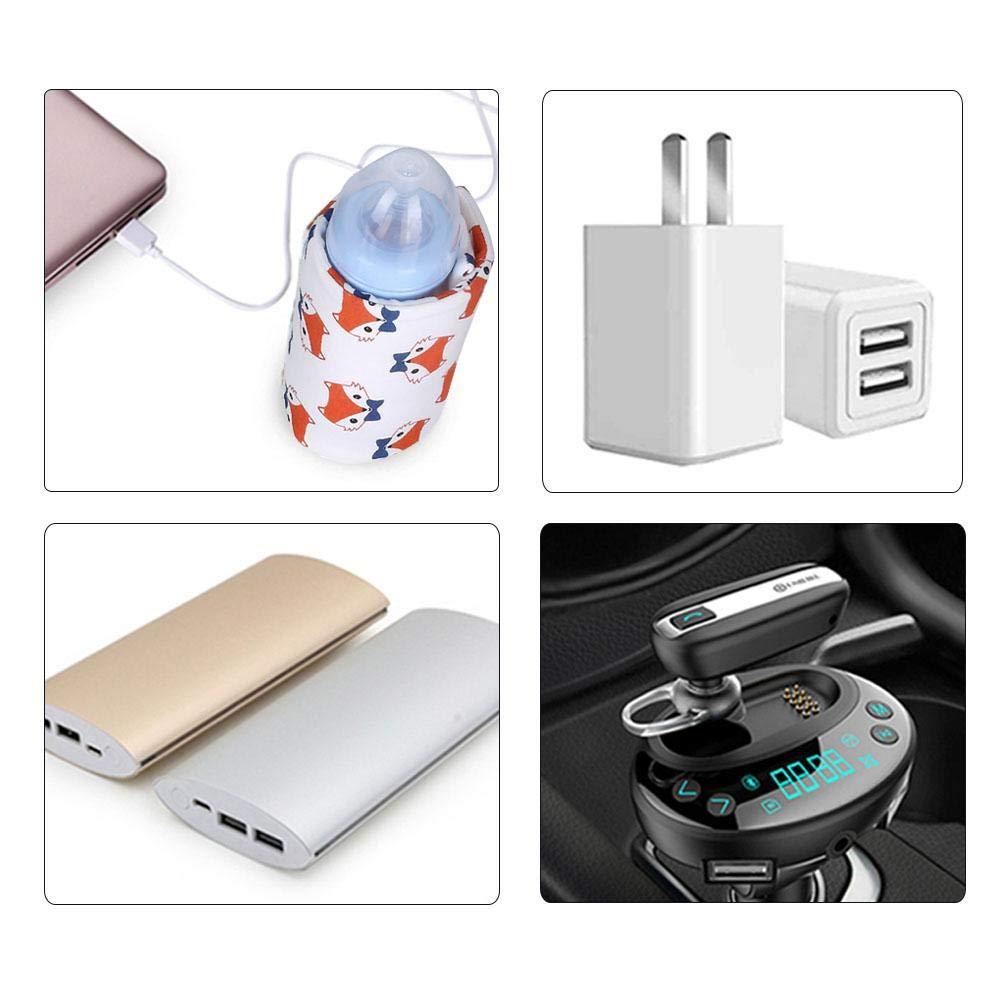 kingpo Bolsa de biber/ón beb/é Botella de alimentaci/ón C/álido Aislamiento USB Calentador de biberones a Temperatura Constante Port/átil