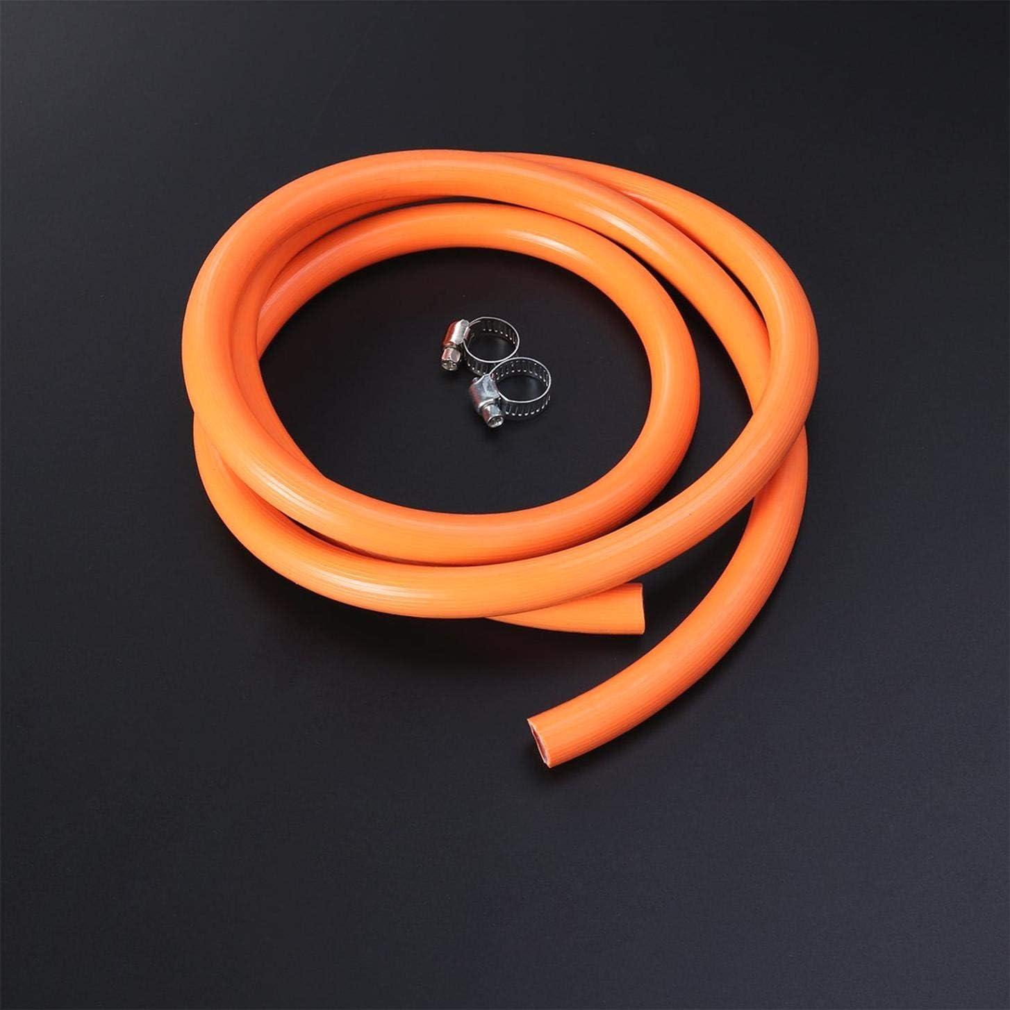 KANGIRU R/égulateur de gaz en Caoutchouc Naturel Liqu/éfi/é Gaz D/éconnect/é Tuyau Ensemble Tube /À Gaz Po/êle Chauffe-Eau avec 2 Raccords 150 cm