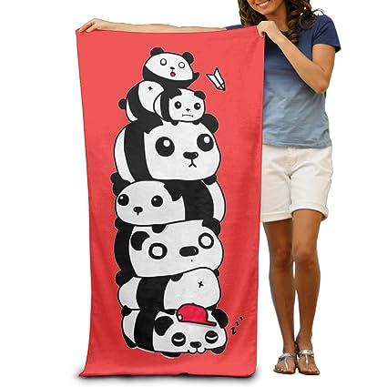 Siete Panda apilados aspecto divertido sol sobre mis hombros toallas/talla única/toalla de