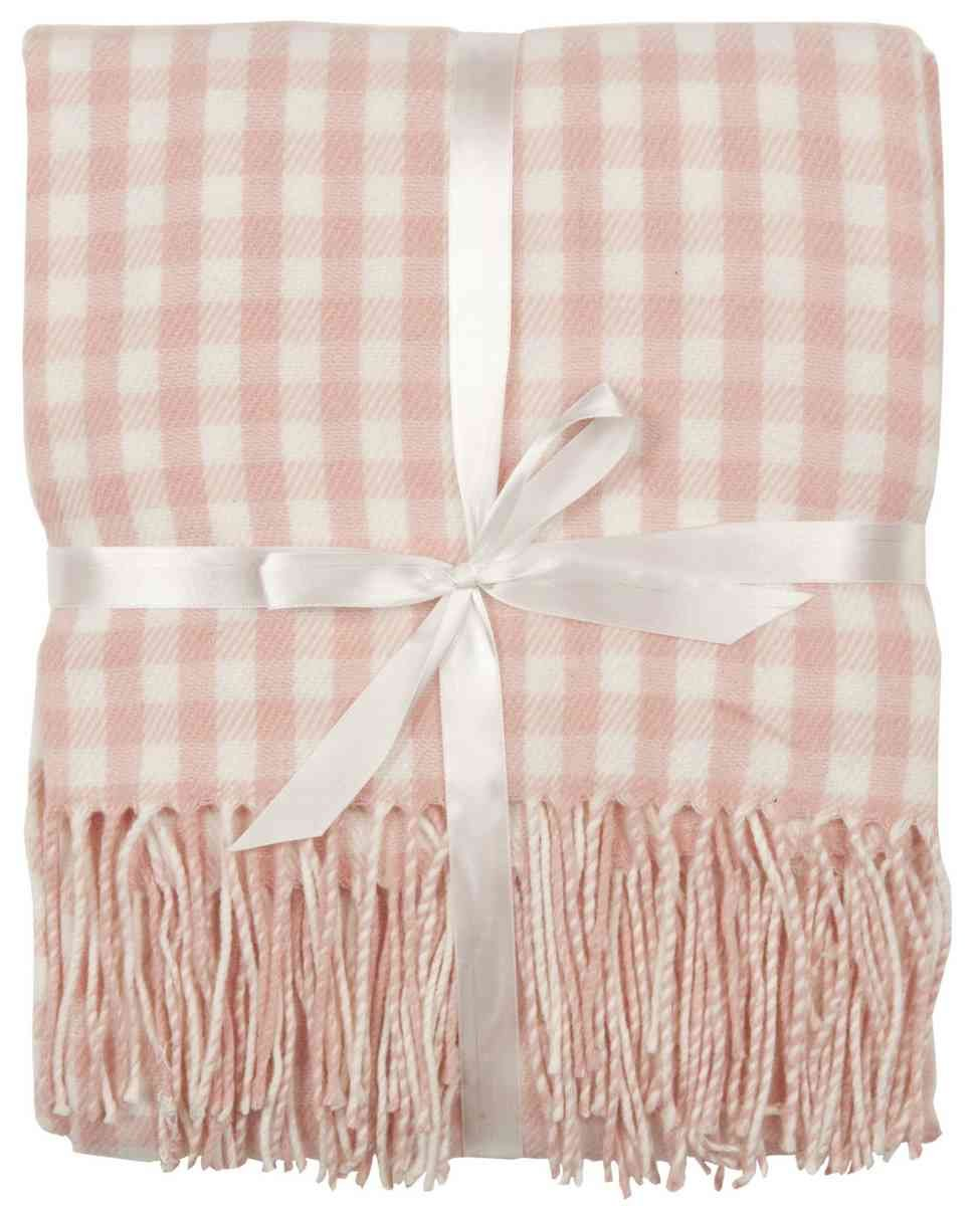 Clayre Eef Plaid.Clayre Eef Plaid With Small Pink Tiles 130x150 Amazon