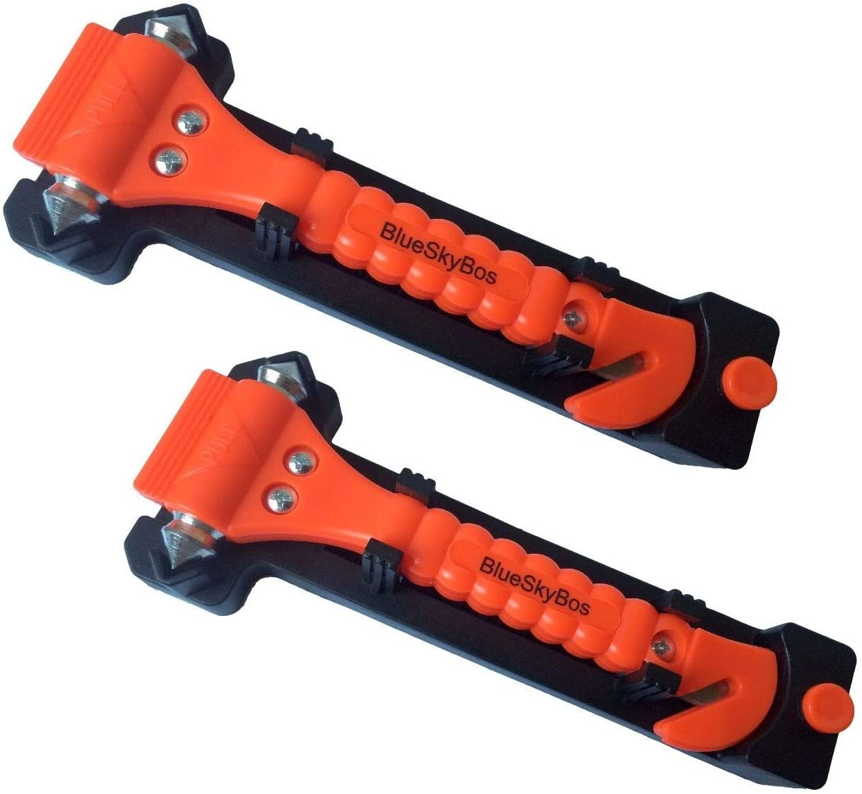 BlueSkyBos Value 2 Pack - Emergency Escape Tool Auto Car Window Glass Hammer Breaker and Seat Belt Cutter Escape 2-in-1 Tool: Automotive