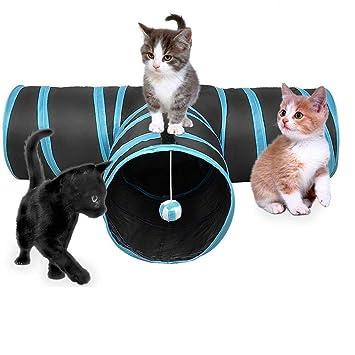 Katze Spielzeug Hundenspielzeug Spieltunnel Faltbarer 3-Wege-Spiel Tunnel f/ür Kaninchen Hasen Katze Hunde und Kleintiere Haustier BZLine Katzenspielzeug Katzentunnel