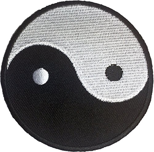 - Yin Yang Tao Dao Chinese Sew Iron on Embroidered Patches