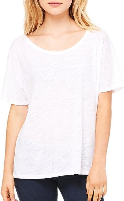 c42defdc1 Amazon.com: Bella + Canvas Womens Slouchy T-Shirt (8816)- WHITE SLUB ...