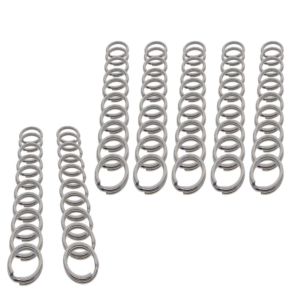 DIY Pendant 20pcs Lanyards Arts Crafts as described IPOTCH Pack 20//50 Stainless Steel Flat Key Chain Ring Metal Split Keychain Rings Car Home Keys Organization 15mm Dia