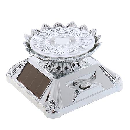 MonkeyJack Plata Solar/Funciona con Pilas Lotus Rotación de ...