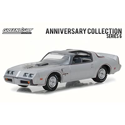 1979 Pontiac Firebird Trans Am Silver 10th Anniversary Edition Anniversary Collection Series 6 1/64 Model Car by Greenlight: Toys & Games