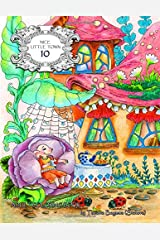 Nice Little Town 10: Adult Coloring Book (Stress Relieving Coloring Pages, Coloring Book for Relaxation) Paperback
