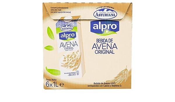 Alpro Central Lechera Asturiana Bebida de Avena - Paquete de 6 x 1000 ml - Total: 6000 ml: Amazon.es: Amazon Pantry