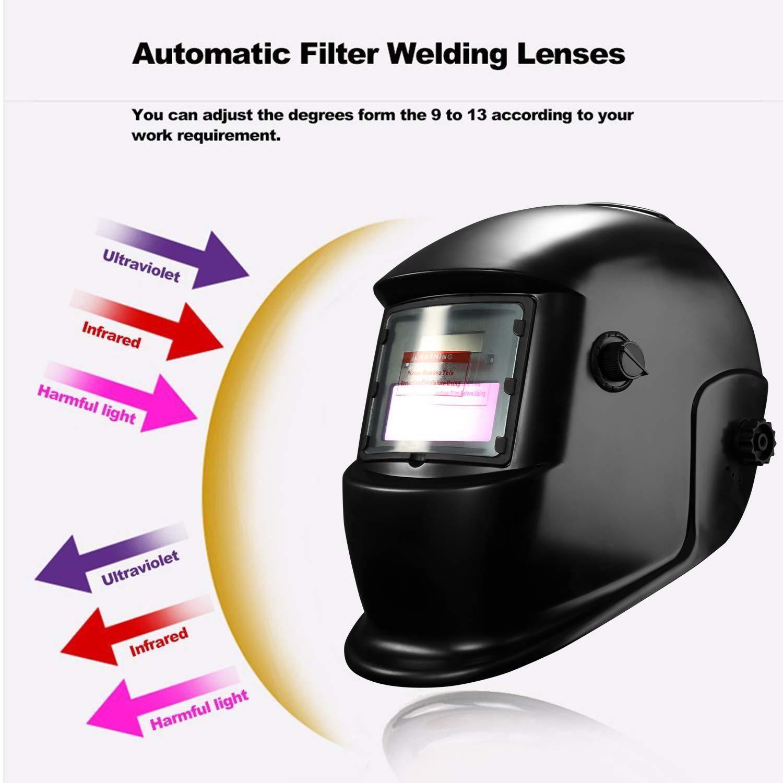 DEKOPRO Auto Darkening Solar Welding Helmet ARC TIG MIG Weld Welder Lens Grinding Mask New Black Design by DEKOPRO (Image #6)