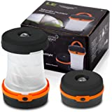 LE Lanterna LED Pieghevole Luce Emergenza 3 Modalità Luci Esterne per Campeggio Trekking Pesca