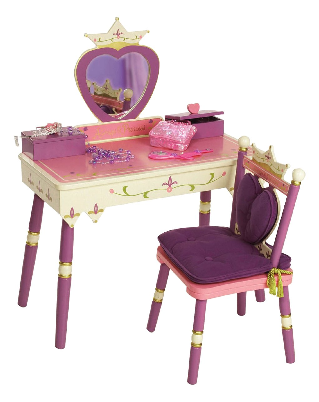 Completely new Amazon.com: Wildkin Princess Vanity Table & Chair Set: Toys & Games NS93