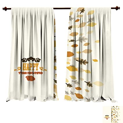 Amazon Com Curtains For Bedroom Vector Thanksgiving Background