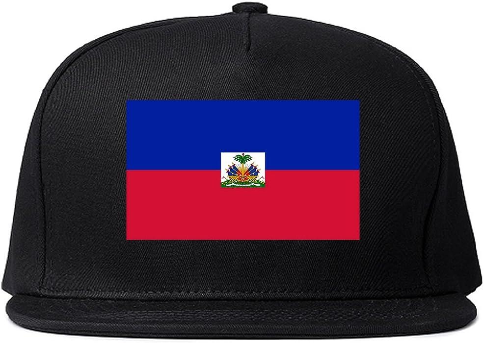 ea752ec9442f6e Haiti Flag Country Printed Snapback Hat Cap Black at Amazon Men's ...