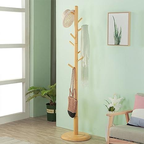 Amazon.com: GFLYM - Perchero de madera maciza para ropa ...