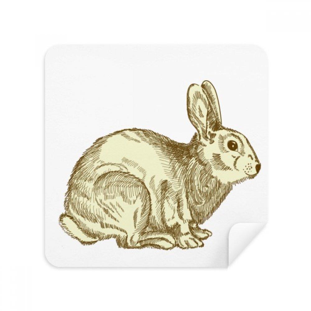イースター宗教Festival Bunny文化メガネクリーニングクロス電話画面クリーナースエードファブリック2pcs   B07C93NJH2