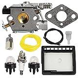 Anzac WT-589 Carburetor Air Fuel Filter Tune-Up Kit for Echo CS-300 CS-301 CS-305 CS-340 CS-341 CS-345 CS-346 CS-3000 CS-3400 Gas Saw Chainsaw