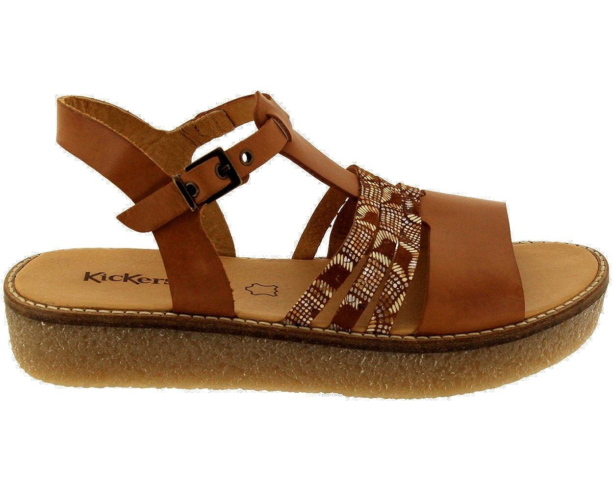 ae577638fe0919 Kickers Verseau 609470-50 114, Femme Nu-Pied Camel BI-Matière EU37:  Amazon.fr: Chaussures et Sacs