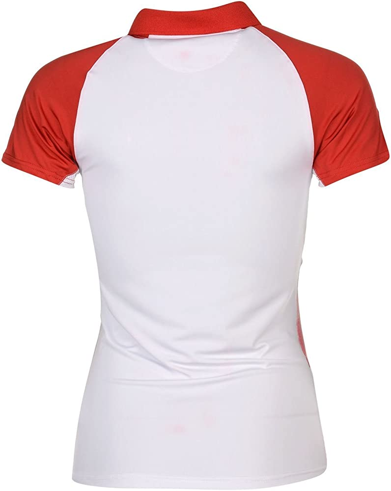 Carlton Camisa Polo De Tennis Rojo/Blanco L (EU 42/UK 14): Amazon ...