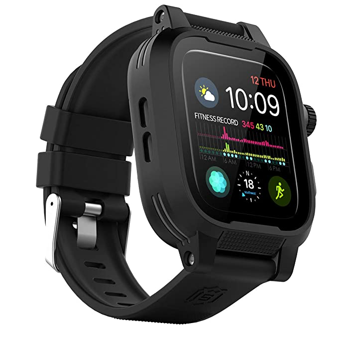 save off 4e1ed 2b934 Waterproof Apple Watch Series 4 40mm Case,Waterproof Shockproof Impact  Resistant Rugged Protective Case with Bulit-in Screen Protector and Premium  ...