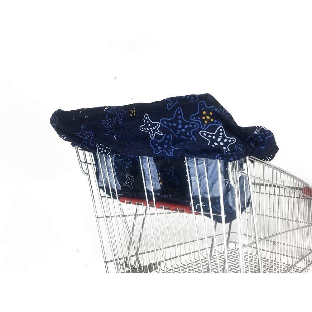 iBaste Einkaufswagenschutz Baby Kleinkinder /Überzug Faltbare Schutzabdeckung Hochstuhl Sitzbezug Kinderhochstuhl Schutz Abdeckung 120cmx70cm