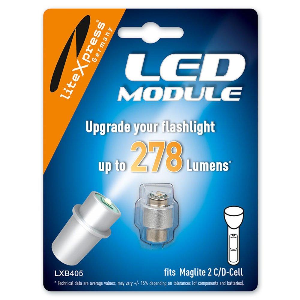 LiteXpress LXB405 - Mó dulo LED para linterna Maglite 2C/D-Cell, 278 lú menes 278 lúmenes