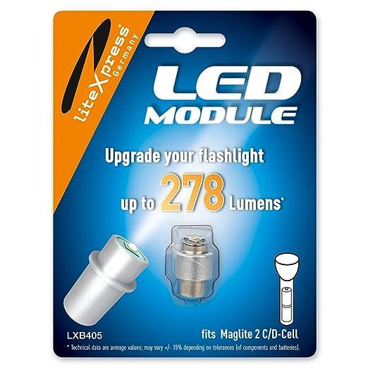 71 opinioni per LiteXpress LXB405- Kit di potenziamento LED a 278 Lumen, per torce tascabili