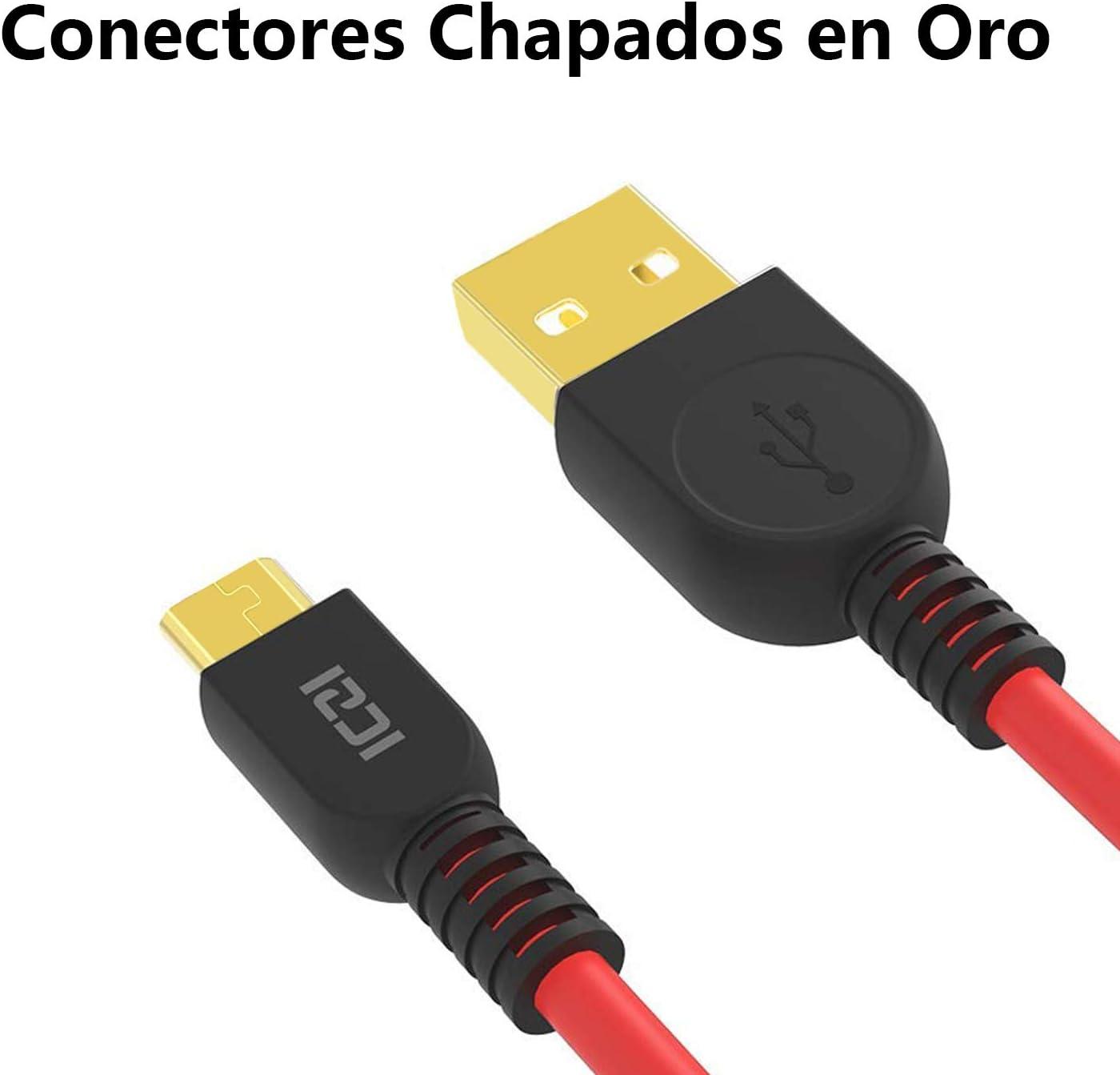 ICZI Cable USB Tipo C a USB 3.0 5 Pack 1m* 3+ 0.3m*1+ 1.8m*1 Carga rapida//Trenzado de Nylon//Conectores chapados en Oro 1 para Casa 1 para Oficina 1 para Coche 1 para Viajar 1 para Familia