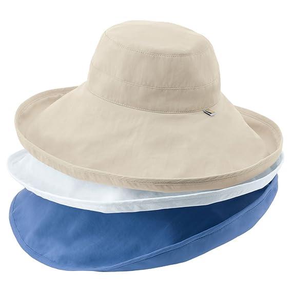 e19e37d21eaedf Solumbra Ultra-Wide Rolled Brim Hat - 100+ SPF Sun Protective at Amazon  Women's Clothing store: Sun Hats