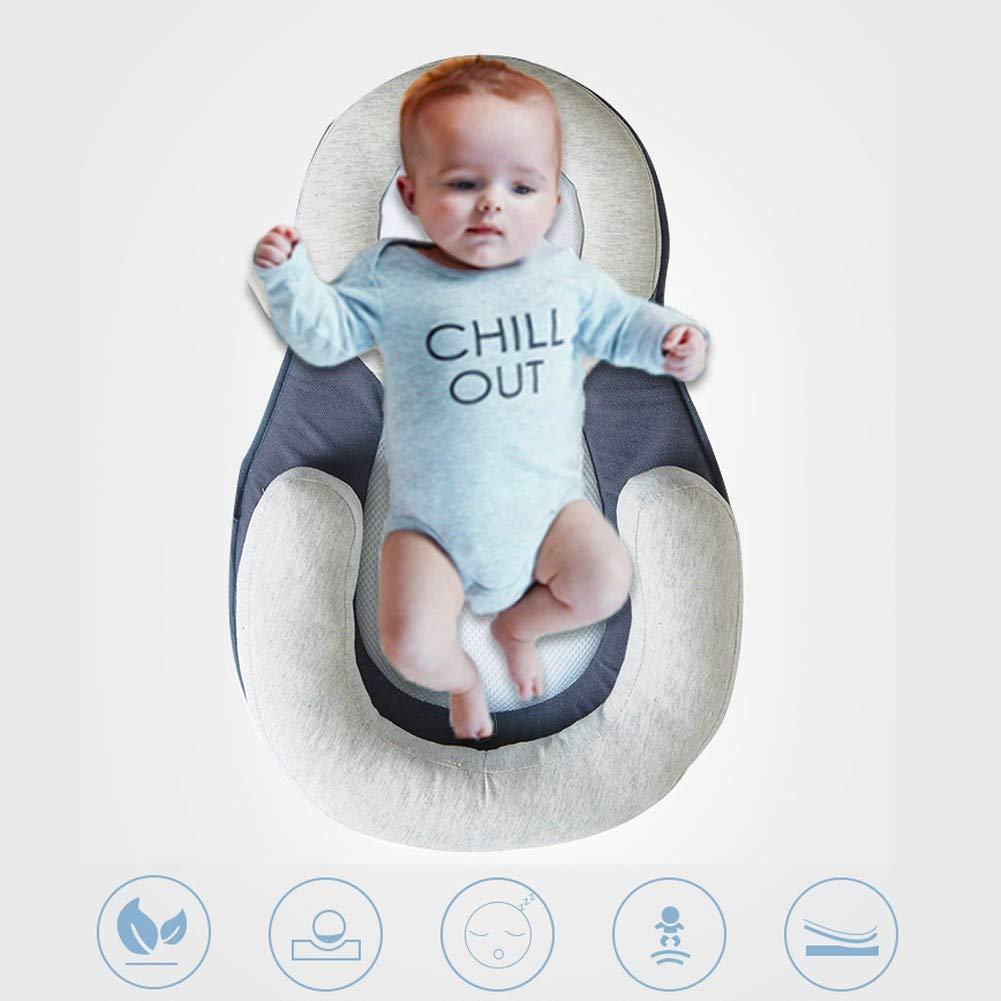 YUELAI Beb/è Ergonomico Riduttore Cuscino Protettivo per Neonati in Cotone Biologico Adatto per Dormire E Allattare Culla Portatile O Lettino per Neonati con Materassino Imbottito A