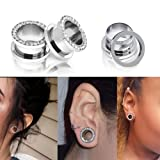 "Qmcandy 8pcs 8G-9/16"" Stainless Steel Screwed Ear"
