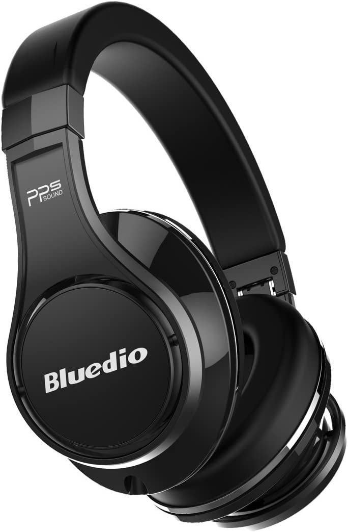 Bluedio U UFO PPS 8 Drivers High-End Bluetooth headphones Revolution 3D Sound Effect Aluminum alloy build Hi-Fi Rank wireless wired Over-Ear headsets with carrying hard case Gift-package Pure Black
