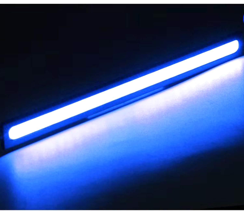 blue 2 PCS Waterproof Car COB LED 12V Lights High Power DRL Daytime Running Fog Driving White Lamp