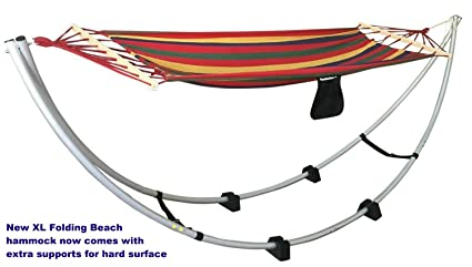Folding Beach Hammock Stand XL Size. Up To 250 Lbs. Portable Foldable  Aluminum Travel