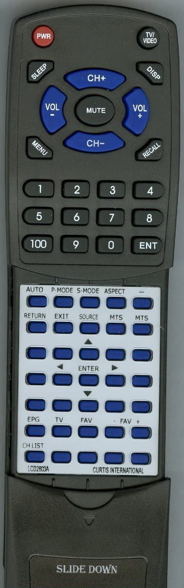 Replacement Remote Control for Curtis International LCD4015A LCD2605A LCD2603A