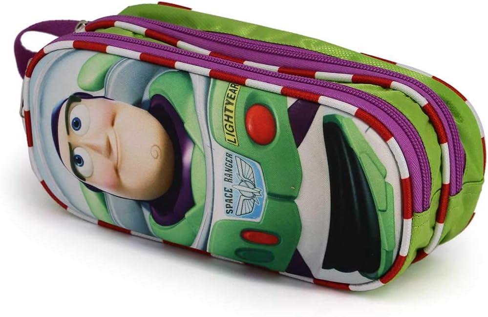 22 cm Karactermania Toy Story Buzz-3D Double Pencil Case Trousses Multicolour Multicolore