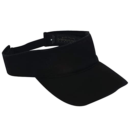 Dorfman Pacific Co. Men s Garment Washed Twill Visor 806746cab0d6
