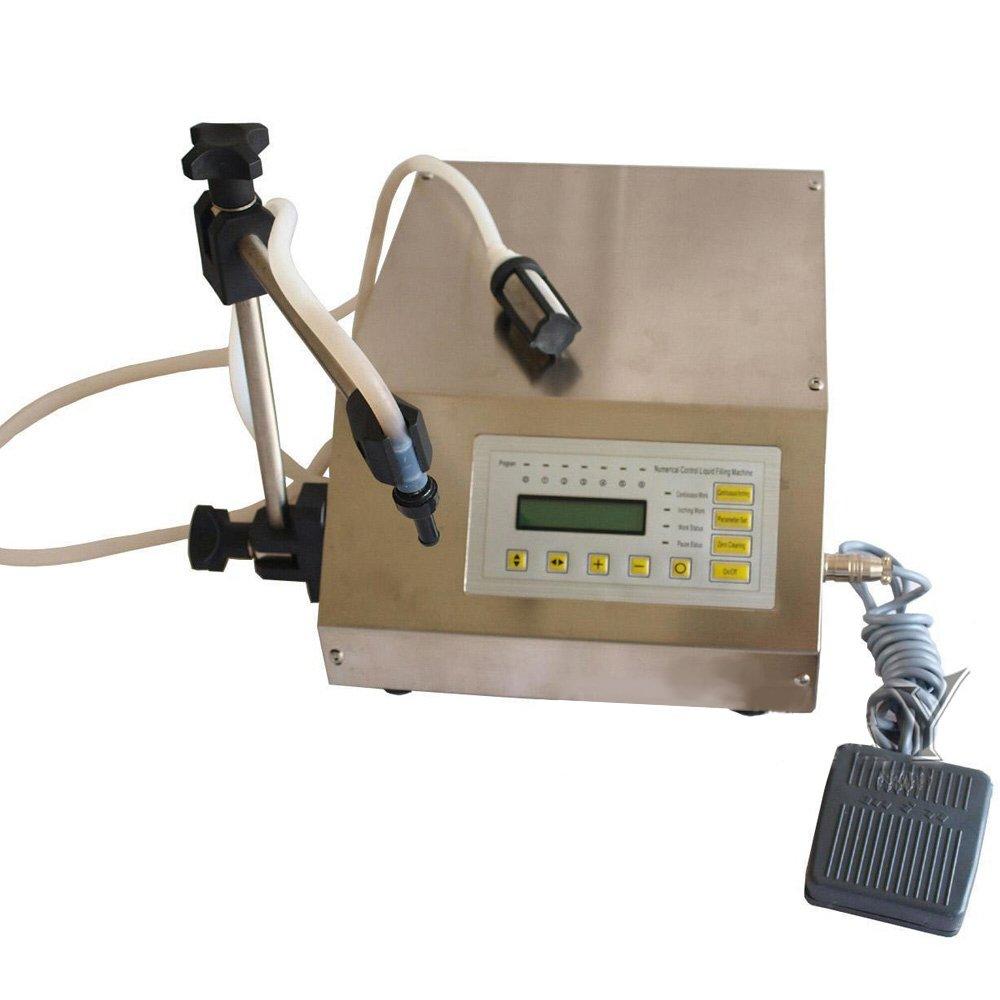 Wotefusi New Industrial Digital Control Pump Drink Water Liquid Filling Machine GFK-160 110V 30W 3.2L/min 5-30 Bottles/min Filling Range: 5-3500ml by Wotefusi (Image #1)