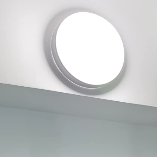 Plafón LED 18 W IP54 escaleras terraza baño techo pared aplique exterior – Luz Blanco Natural: Amazon.es: Iluminación