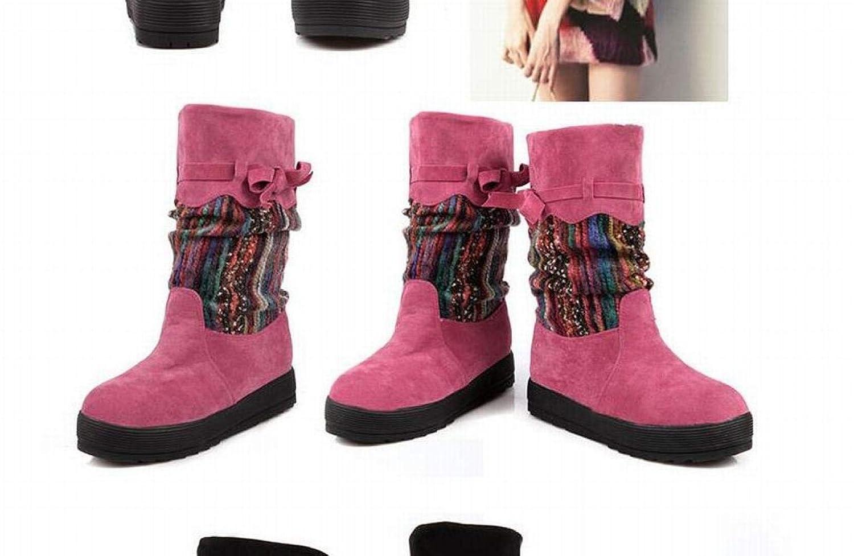 Damenstiefel - Herbst Und Winter Winter Winter Warme Anti-Ski-Stiefel Flache Kurze Stiefel   34-39 7a45cd