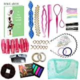 Ultimate Hair Styling Tools Accessories DIY Kit Set BONUS eBook for Girls Women