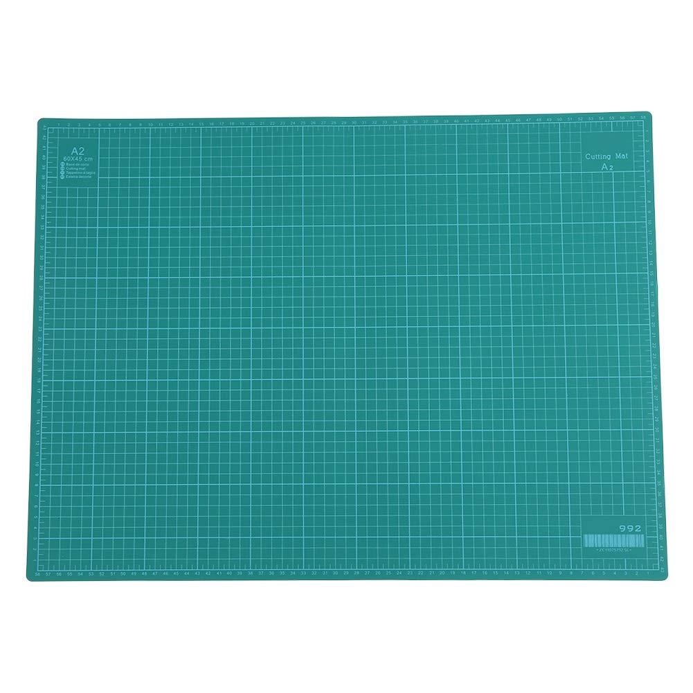 Alfombrilla de corte con 5 capas de PVC 60 x 45 x 0,5 cm verde costura y artesan/ía alfombra de corte autorreparadora A2 con borde de corte para patchwork
