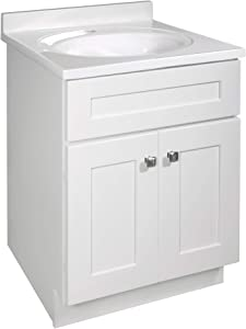 Design House 586933 Brookings Unassembled Modern Shaker Vanity Cabinet Only, 24 x 21, White