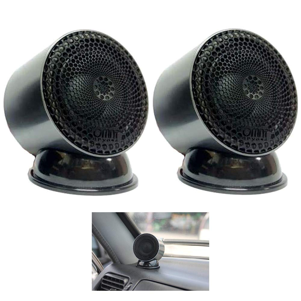 2 Inches Full Range Car Speakers Set of 2 COSMOSS Crossover Tweeter for Car Component Stereo Enhance Sound System for Car Bass Tweeters for Car Audio Titanium Dome Tweeter Speaker Car Audio Systems