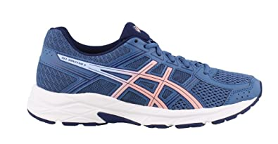 acb63b69c37f0 ASICS Gel-Contend 4 Women's Running Shoe, Azure/Frosted Rose, 5.5 M US