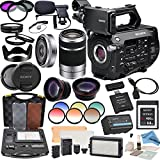 Sony PXWFS7 XDCAM Camera With Sony SEL16F28 16mm Lens & E-Mount 55-210mm Lens, Professional 162 LED Light Kit, Sony 64GB G Series XQD Format Version 2 Memory Card and more...