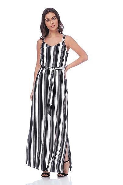 hot product order new authentic Roman Originals Women Monochrome Stripe Maxi Dress - Ladies ...