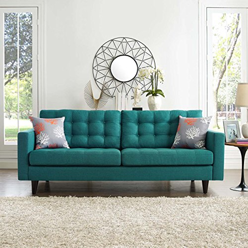 Upholstered Chairs For Modern Living Spaces: Modway Empress Mid-Century Modern Upholstered Fabric Sofa