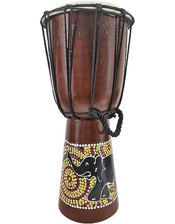 Bongo Djembe de 50, 60 y 70 cm, con un elefante pintado (instrucciones